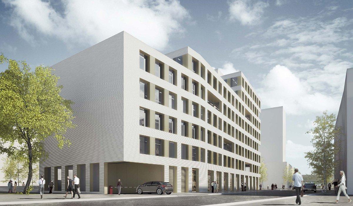 immeuble de bureaux, commerces, parkings